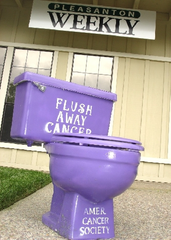 Purple potty making the rounds | News | PleasantonWeekly com |