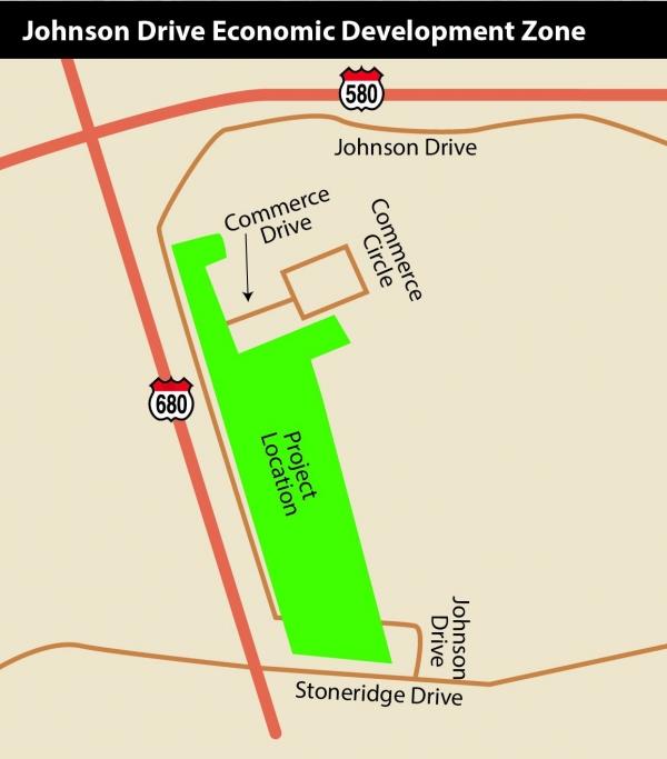 Map Showing Proposed Johnson Drive Economic Development