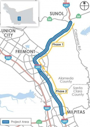 $107 million contract awarded for I-680 northbound express lane