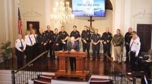 Pleasanton church honors first responders